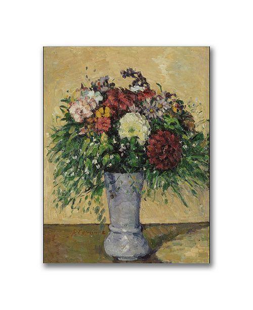 """Trademark Global Paul Cezanne 'Bouquet of Flowers in a Vase' Canvas Art - 32"""" x 24"""""""