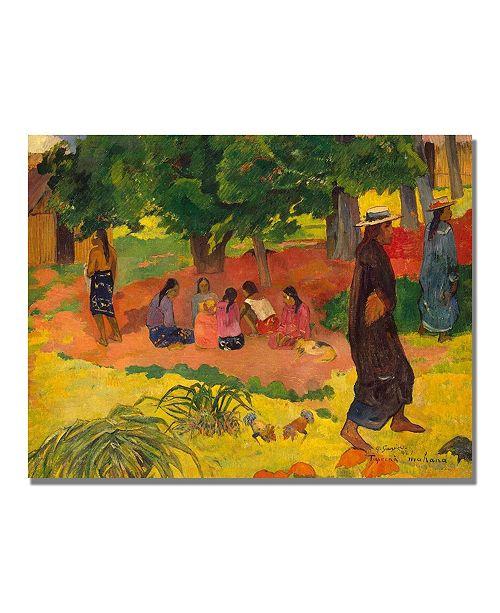 "Trademark Global Paul Gauguin 'Taperaa Mahana' Canvas Art - 47"" x 35"""