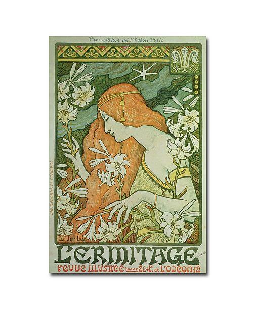 "Trademark Global Paul Berthon 'L'Emitage 1872' Canvas Art - 24"" x 16"""