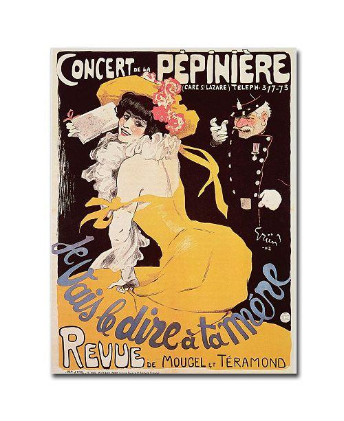 "Trademark Global Concert de la Pepiniere 1902' Canvas Art - 47"" x 35"""