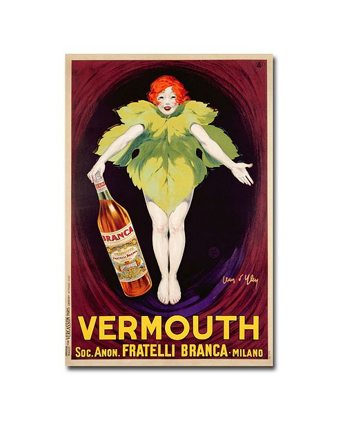 "Trademark Global Jean d'Ylen 'Fatelli Branca Vermouth 1922' Canvas Art - 32"" x 22"""