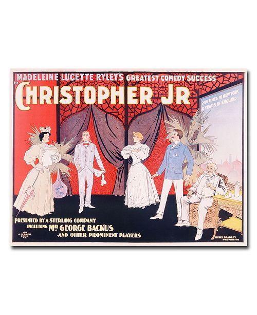 "Trademark Global 'Christopher Jr.' Canvas Art - 47"" x 35"""