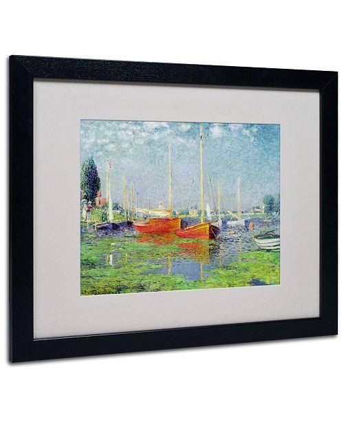 """Trademark Global Claude Monet 'Argenteuil' Matted Framed Art - 20"""" x 16"""""""