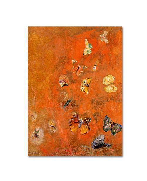 "Trademark Global Odilon Redon 'Evocation of Butterflies 1912' Canvas Art - 24"" x 18"""