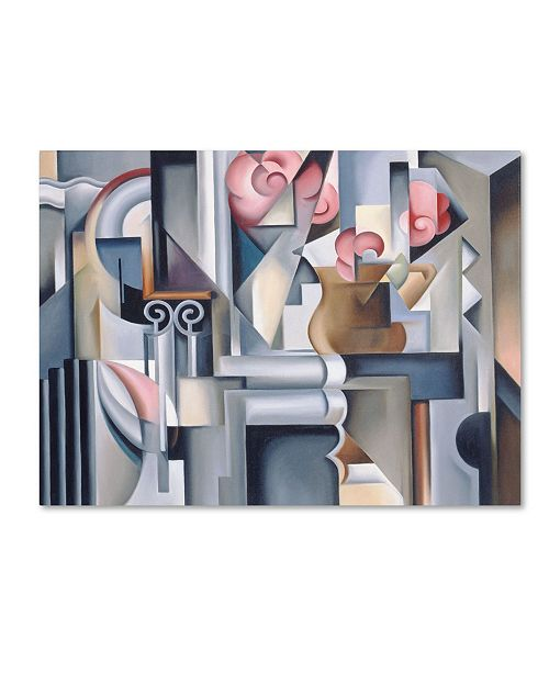 "Trademark Global Catherine Abel 'Still Life With Brown Jug' Canvas Art - 47"" x 35"""