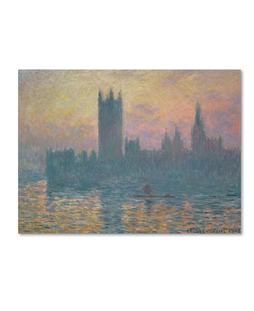 "Trademark Global Claude Monet 'The Houses of Parliament Sunset' Canvas Art - 14"" x 19"""