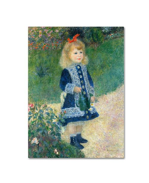 """Trademark Global Pierre Auguste Renoir 'A Girl With a Watering Can' Canvas Art - 47"""" x 35"""""""
