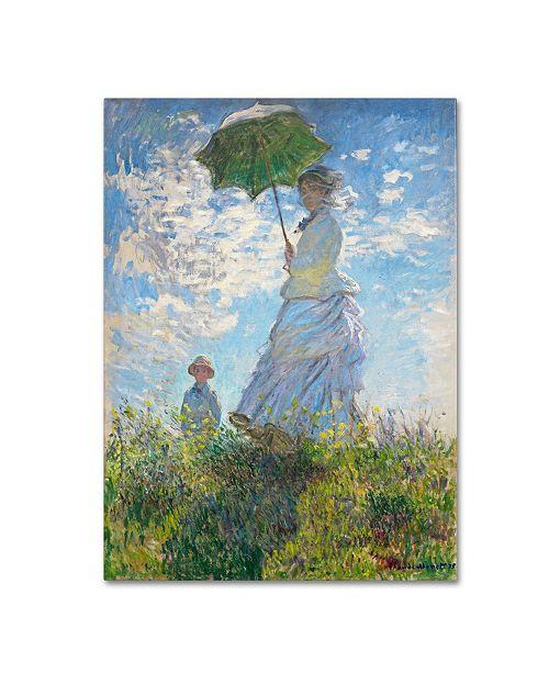 "Trademark Global Claude Monet 'Woman With a Parasol 1875' Canvas Art - 32"" x 24"""