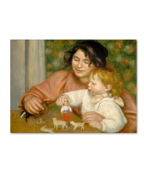 "Trademark Global Pierre Auguste Renoir 'Child With Toys 1895-96' Canvas Art - 32"" x 24"""