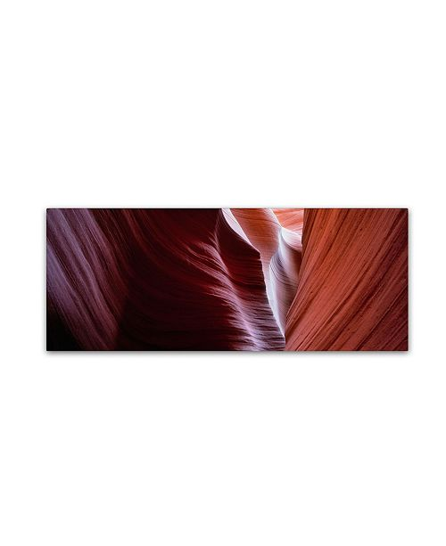 """Trademark Global David Evans 'Layers of Time-Lower Antelope Canyon' Canvas Art - 32"""" x 10"""""""