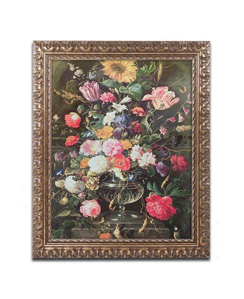 """Trademark Global Cornelis De Heem 'Still Life' Ornate Framed Art - 16"""" x 20"""""""