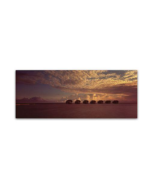 "Trademark Global David Evans 'Sunset-Jumeirah Vittaveli' Canvas Art - 6"" x 19"""