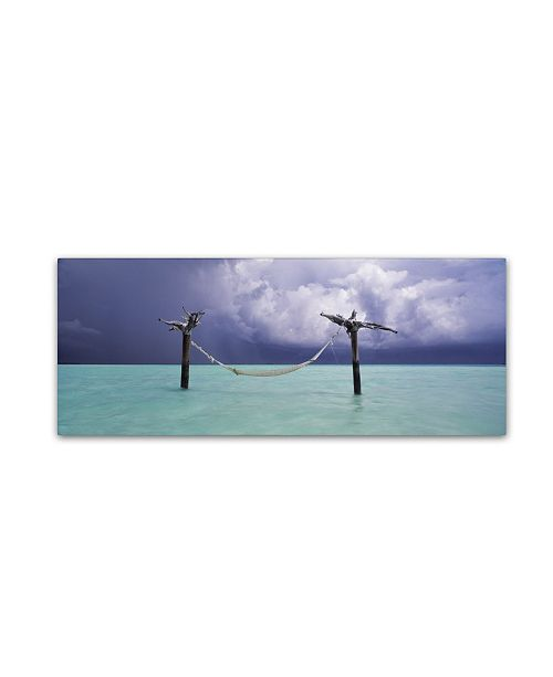 "Trademark Global David Evans 'The Hammock 2' Canvas Art - 16"" x 47"""