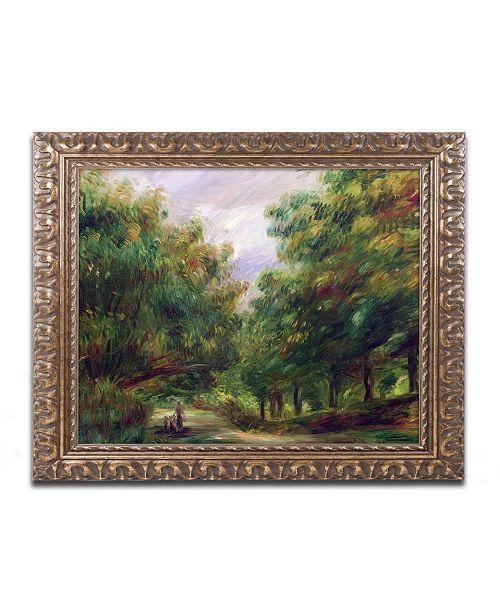 "Trademark Global Pierre Auguste Renoir 'The Road Near Cagnes' Ornate Framed Art - 11"" x 14"""