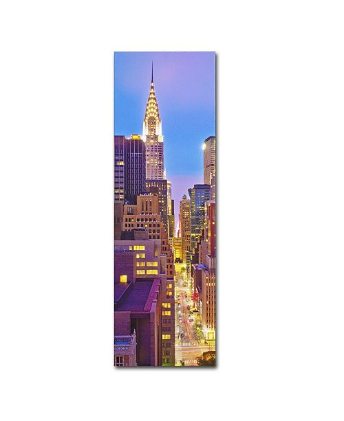 "Trademark Global Preston 'NY Vertical Panoramic' Canvas Art - 8"" x 24"""