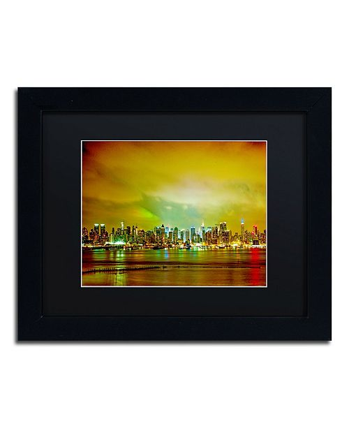 "Trademark Global Preston 'City Skyline' Matted Framed Art - 11"" x 14"""
