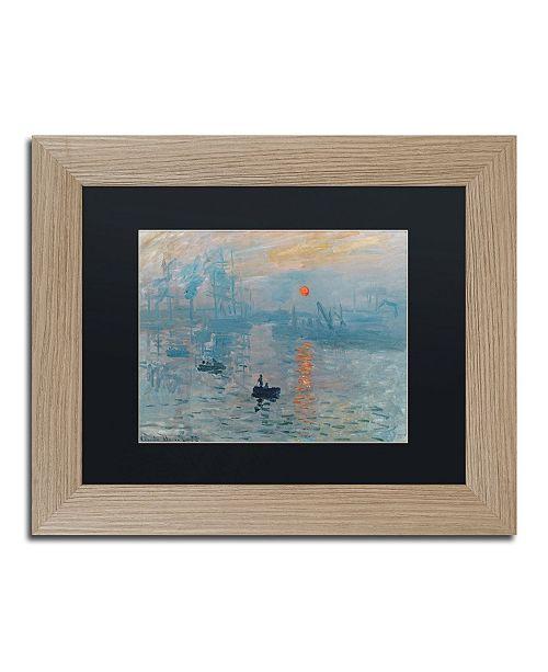 "Trademark Global Claude Monet 'Impression Sunrise' Matted Framed Art - 11"" x 14"""