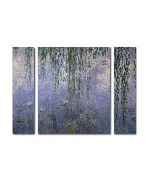 "Trademark Global Claude Monet 'Water Lilies III 1840-1926' Multi Panel Art Set Small - 24"" x 32"""