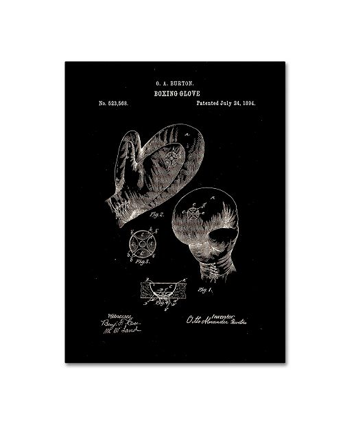 """Trademark Global Claire Doherty 'Boxing Gloves Patent 1894 Black' Canvas Art - 14"""" x 19"""""""