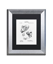 """Claire Doherty 'Boxing Gloves Patent 1894 White' Matted Framed Art - 11"""" x 14"""""""