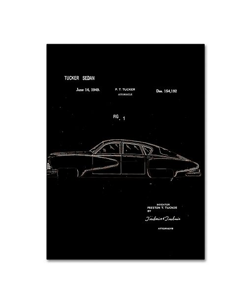 "Trademark Global Claire Doherty 'Tucker Sedan Patent 1949 Black' Canvas Art - 24"" x 32"""