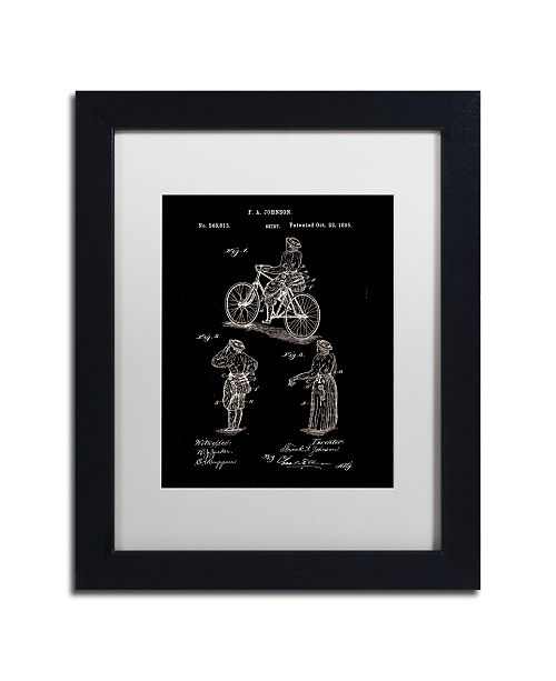 "Trademark Global Claire Doherty 'Cycling Skirt Patent 1885 Black' Matted Framed Art - 11"" x 14"""