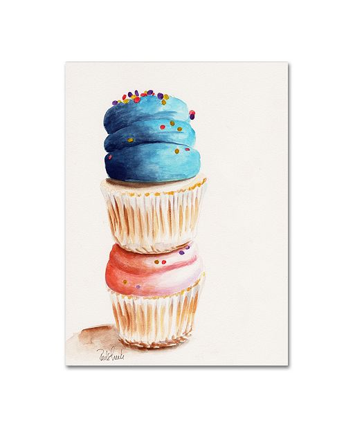 "Trademark Global Jennifer Redstreake 'Stacked Cupcakes No Words' Canvas Art - 35"" x 47"""