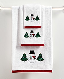 Snowman Cotton Bath Towel Collection, Created for Macy's