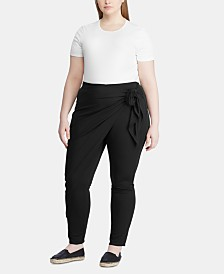 Lauren Ralph Lauren Plus Size Tie-Waist Jersey Stretch Pants