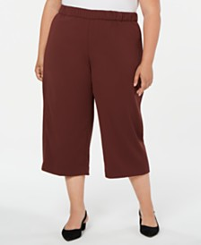 Alfani Plus Size Pull-On Culottes, Created for Macy's
