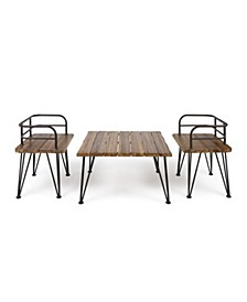 Zion Outdoor 3pc Large Chat Set