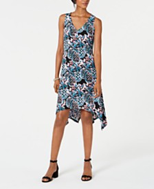 Pappagallo Handkerchief-Hem A-Line Dress