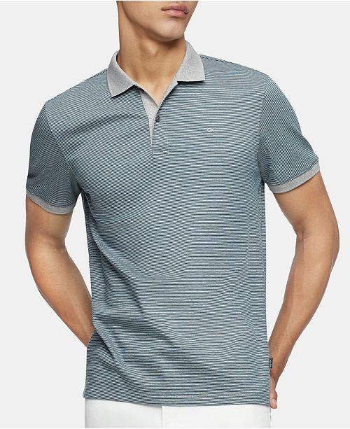 los recién llegados ac14f 88f97 Men's Liquid Touch Micro Stripe Polo Shirt