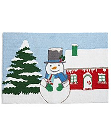 "CLOSEOUT! Snowman 20"" x 30"" Hooked Rug, Created for Macy's"