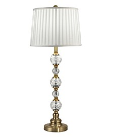 Aquila Lead Hand Cut Crystal Buffet Table Lamp