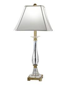 Dale Tiffany Tapani 24% Lead Hand Cut Crystal Table Lamp