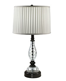 Acacia 24% Lead Hand Cut Crystal Table Lamp