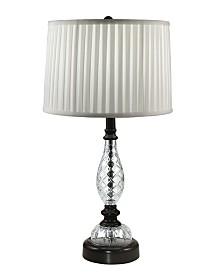 Dale Tiffany Acacia 24% Lead Hand Cut Crystal Table Lamp