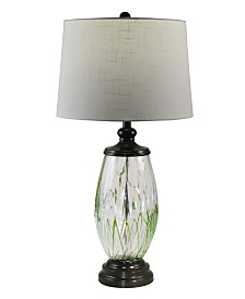 Dale Tiffany Vale Painted Crystal Table Lamp