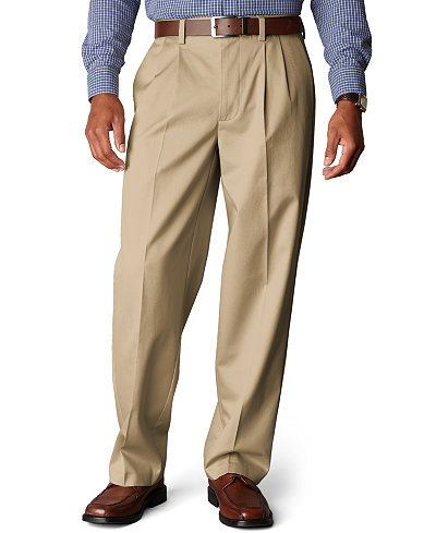 Dockers Signature Khaki Relaxed Fit Pleated Pants, Limited ...