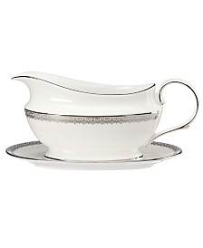 Lenox Lace Couture Gravy Boat and Stand