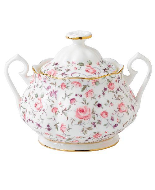 Royal Albert Rose Confetti Sugar Bowl with Lid