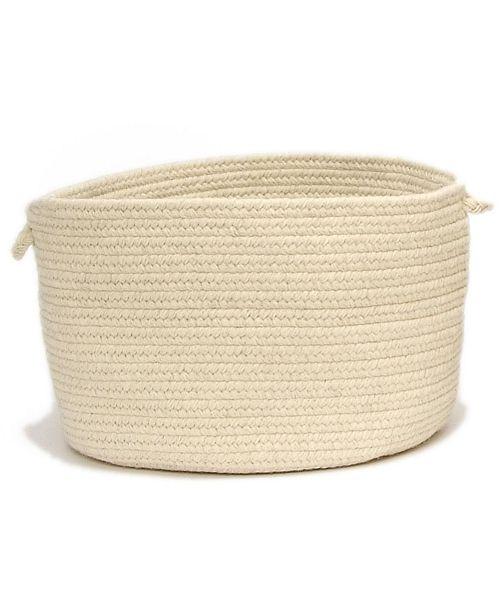 Colonial Mills Shear Natural Braided Storage Basket