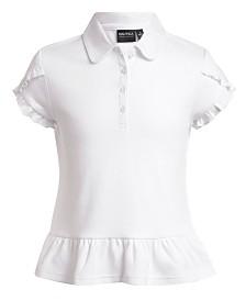 Nautica Big Girls Plus Ruffle-Trim Polo Shirt