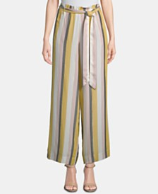 ECI Striped Tie-Waist Pants