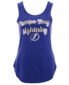 Women's Tampa Bay Lightning Foil Script Tank