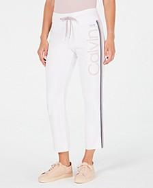 High-Waist Ombré-Stripe Ankle Pants