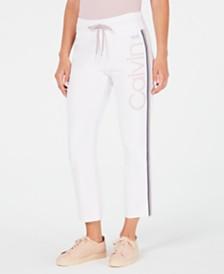 Calvin Klein Performance High-Waist Ombré-Stripe Ankle Pants