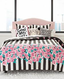 Betsey Johnson Romantic Roses Comforter Set, Full/Queen