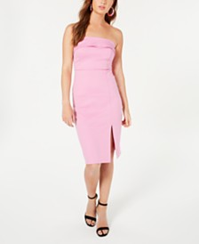 Material Girl Juniors' Strapless Ponte-Knit Midi Dress, Created for Macy's